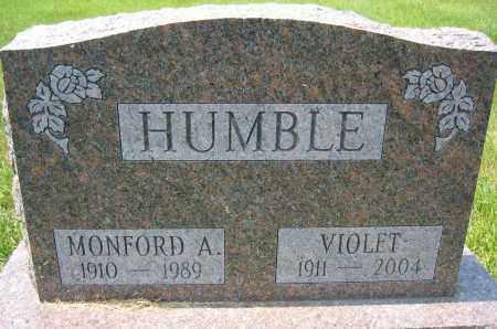 HUMBLE, MONFORD A. - Union County, Ohio | MONFORD A. HUMBLE - Ohio Gravestone Photos