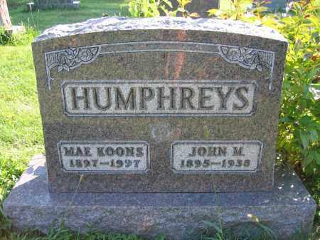 HUMPHREYS, JOHN M - Union County, Ohio | JOHN M HUMPHREYS - Ohio Gravestone Photos