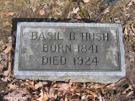 HUSH, BASIL B. - Union County, Ohio | BASIL B. HUSH - Ohio Gravestone Photos