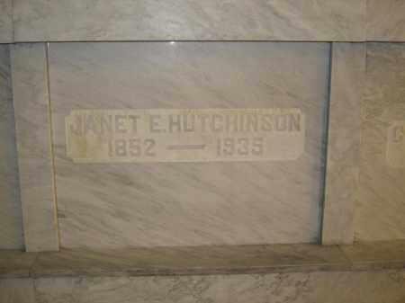 HUTCHINSON, JANET E. - Union County, Ohio | JANET E. HUTCHINSON - Ohio Gravestone Photos