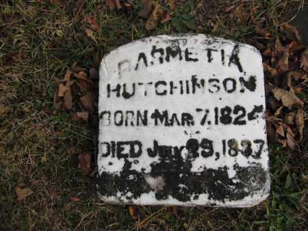 HUTCHINSON, PARMETIA - Union County, Ohio   PARMETIA HUTCHINSON - Ohio Gravestone Photos