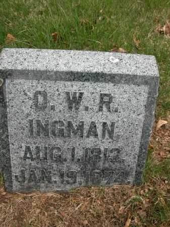 INGMAN, O.W.R. - Union County, Ohio | O.W.R. INGMAN - Ohio Gravestone Photos