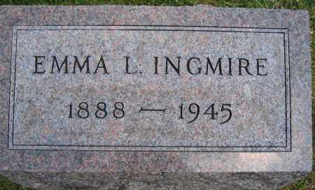 INGMIRE, EMMA L. - Union County, Ohio   EMMA L. INGMIRE - Ohio Gravestone Photos