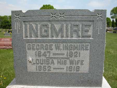 INGMIRE, GEORGE W. - Union County, Ohio   GEORGE W. INGMIRE - Ohio Gravestone Photos
