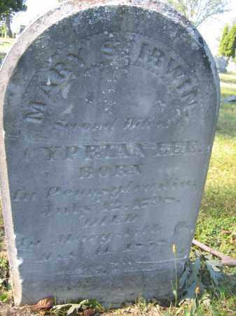 IRWIN, MARY S. - Union County, Ohio | MARY S. IRWIN - Ohio Gravestone Photos