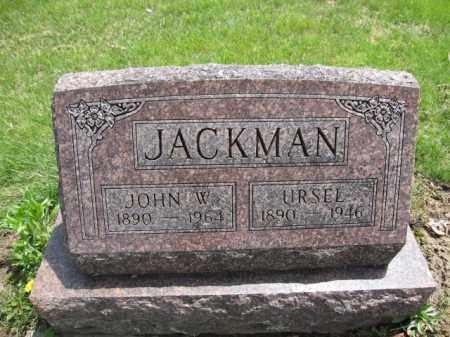 JACKMAN, JOHN W. - Union County, Ohio | JOHN W. JACKMAN - Ohio Gravestone Photos