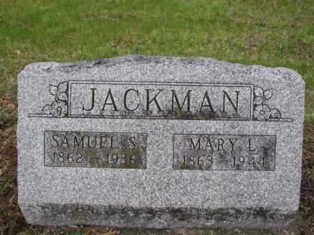 JACKMAN, SAMUEL S. - Union County, Ohio | SAMUEL S. JACKMAN - Ohio Gravestone Photos