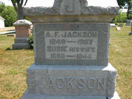 JACKSON, A.F. - Union County, Ohio | A.F. JACKSON - Ohio Gravestone Photos