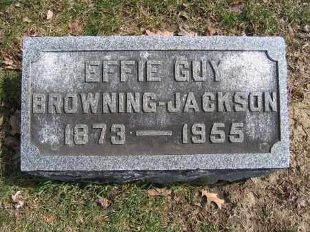 JACKSON, EFFIE GUY BROWNING - Union County, Ohio | EFFIE GUY BROWNING JACKSON - Ohio Gravestone Photos