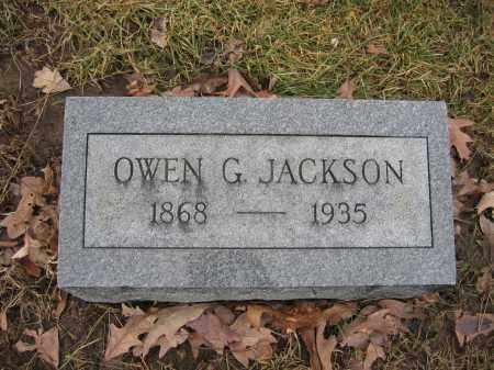 JACKSON, OWEN G. - Union County, Ohio | OWEN G. JACKSON - Ohio Gravestone Photos
