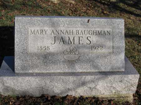 JAMES, MARY ANN BAUGHMAN - Union County, Ohio   MARY ANN BAUGHMAN JAMES - Ohio Gravestone Photos
