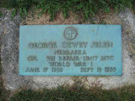 JELEN, GEORGE DEWEY - Union County, Ohio   GEORGE DEWEY JELEN - Ohio Gravestone Photos