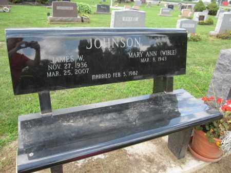 JOHNSON, JAMES W. - Union County, Ohio   JAMES W. JOHNSON - Ohio Gravestone Photos