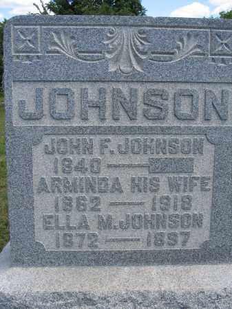 JOHNSON, JOHN F. - Union County, Ohio | JOHN F. JOHNSON - Ohio Gravestone Photos