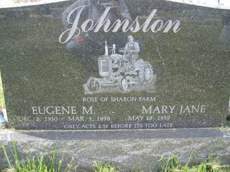 JOHNSTON, EUGENE M. - Union County, Ohio | EUGENE M. JOHNSTON - Ohio Gravestone Photos