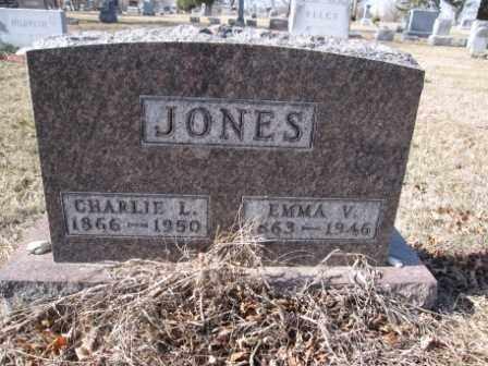 JONES, EMMA V. - Union County, Ohio   EMMA V. JONES - Ohio Gravestone Photos