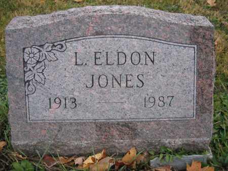 JONES, L. ELDON - Union County, Ohio | L. ELDON JONES - Ohio Gravestone Photos