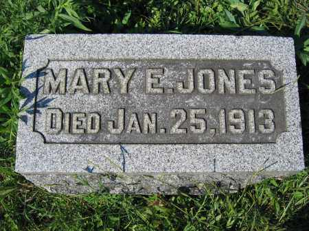JONES, MARY E. - Union County, Ohio | MARY E. JONES - Ohio Gravestone Photos