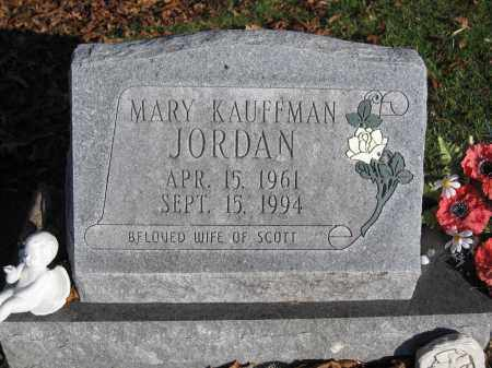 JORDAN, MARY KAUFFMAN - Union County, Ohio | MARY KAUFFMAN JORDAN - Ohio Gravestone Photos