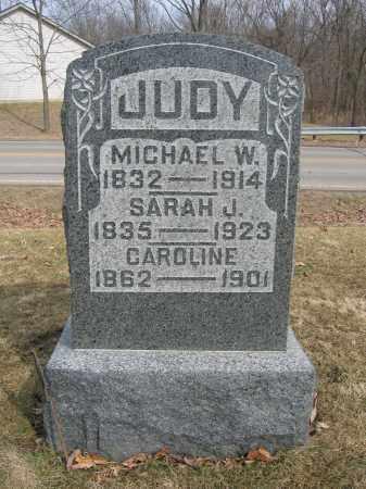 JUDY, SARAH J. - Union County, Ohio | SARAH J. JUDY - Ohio Gravestone Photos
