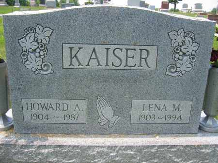 KAISER, HOWARD A. - Union County, Ohio | HOWARD A. KAISER - Ohio Gravestone Photos