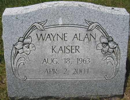 KAISER, WAYNE ALAN - Union County, Ohio   WAYNE ALAN KAISER - Ohio Gravestone Photos