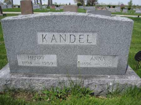 KANDEL, ANNA - Union County, Ohio | ANNA KANDEL - Ohio Gravestone Photos
