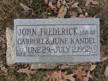 KANDEL, JOHN FREDERICK - Union County, Ohio | JOHN FREDERICK KANDEL - Ohio Gravestone Photos