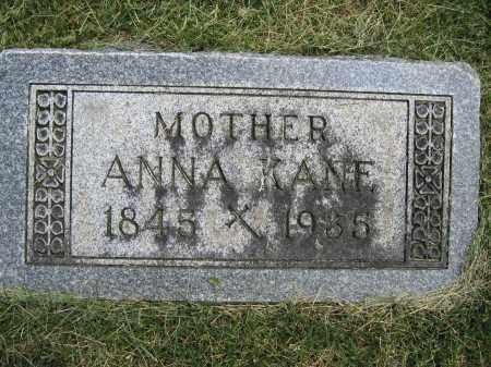 KANE, ANNA - Union County, Ohio   ANNA KANE - Ohio Gravestone Photos
