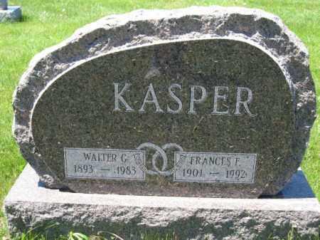 KASPER, FRANCES F. - Union County, Ohio   FRANCES F. KASPER - Ohio Gravestone Photos