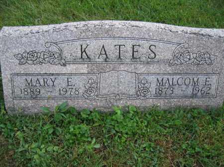 KATES, MARY E. - Union County, Ohio | MARY E. KATES - Ohio Gravestone Photos