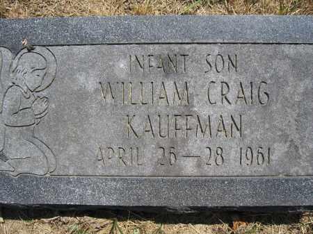 KAUFFMAN, WILLIAM CRAIG - Union County, Ohio | WILLIAM CRAIG KAUFFMAN - Ohio Gravestone Photos