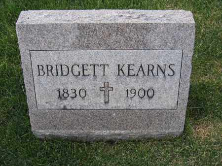 KEARNS, BRIDGETT - Union County, Ohio   BRIDGETT KEARNS - Ohio Gravestone Photos