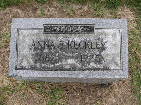 KECKLEY, ANNA STATIA BRIDENBAUGH - Union County, Ohio | ANNA STATIA BRIDENBAUGH KECKLEY - Ohio Gravestone Photos