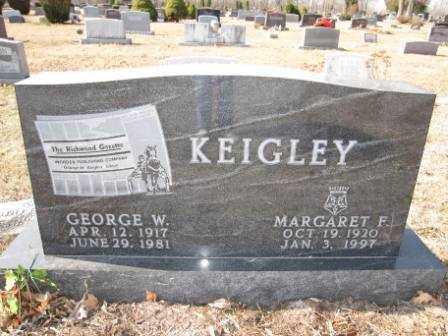 KEIGLEY, MARGARET F. - Union County, Ohio | MARGARET F. KEIGLEY - Ohio Gravestone Photos
