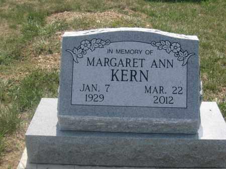 KERN, MARGARET ANN - Union County, Ohio | MARGARET ANN KERN - Ohio Gravestone Photos