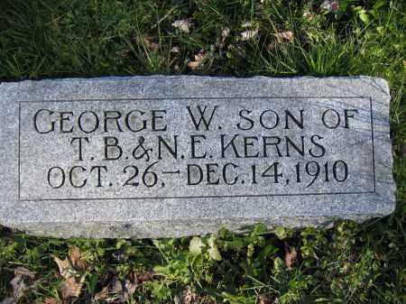 KERNS, GEORGE W. - Union County, Ohio | GEORGE W. KERNS - Ohio Gravestone Photos