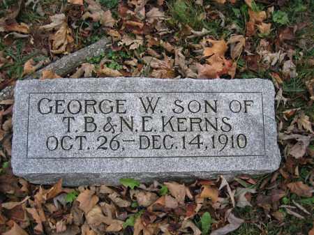 KERNS, GEORGE W. - Union County, Ohio   GEORGE W. KERNS - Ohio Gravestone Photos
