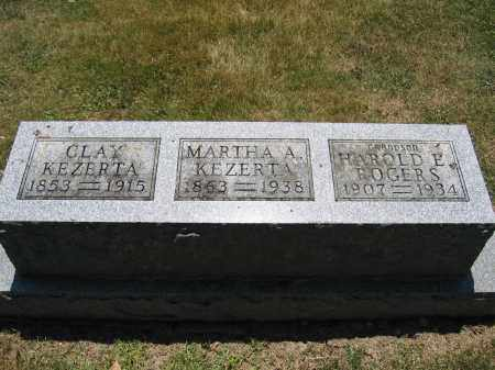 KEZERTA, MARTHA A. - Union County, Ohio | MARTHA A. KEZERTA - Ohio Gravestone Photos