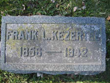 KEZERTEE, FRANK L. - Union County, Ohio | FRANK L. KEZERTEE - Ohio Gravestone Photos