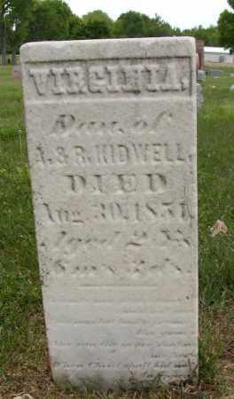 KIDWELL, VIRGINIA - Union County, Ohio | VIRGINIA KIDWELL - Ohio Gravestone Photos
