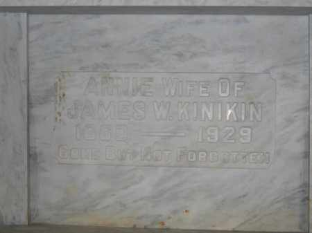 KINIKIN, ANNIE - Union County, Ohio   ANNIE KINIKIN - Ohio Gravestone Photos