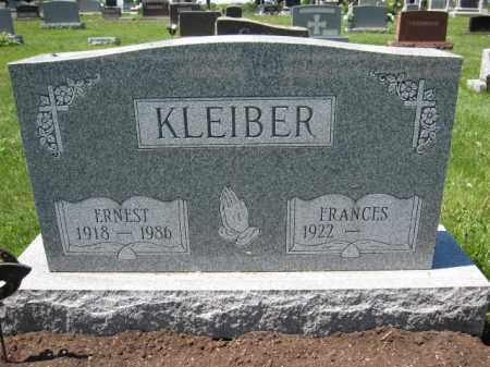 KLEIBER, FRANCES - Union County, Ohio | FRANCES KLEIBER - Ohio Gravestone Photos