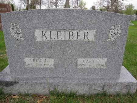 KLEIBER, FRED J. - Union County, Ohio   FRED J. KLEIBER - Ohio Gravestone Photos