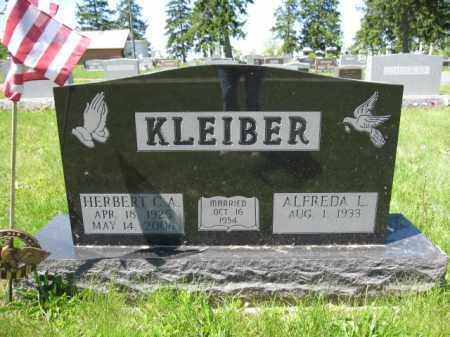 KLEIBER, ALFREDA L. - Union County, Ohio | ALFREDA L. KLEIBER - Ohio Gravestone Photos