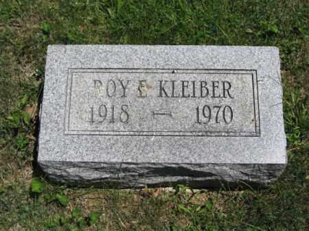 KLEIBER, ROY E. - Union County, Ohio | ROY E. KLEIBER - Ohio Gravestone Photos