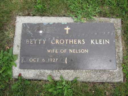 KLEIN, BETTY CROTHERS - Union County, Ohio | BETTY CROTHERS KLEIN - Ohio Gravestone Photos