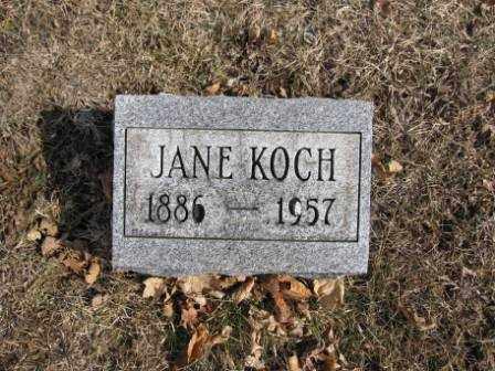 KOCH, JANE - Union County, Ohio   JANE KOCH - Ohio Gravestone Photos