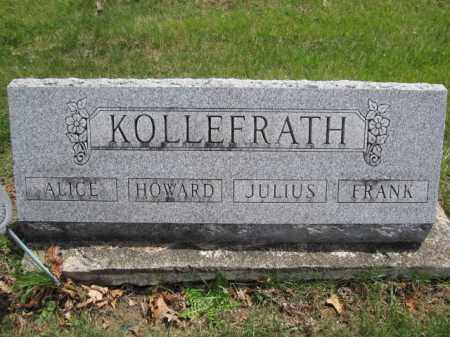 KOLLEFRATH, FRANK - Union County, Ohio | FRANK KOLLEFRATH - Ohio Gravestone Photos
