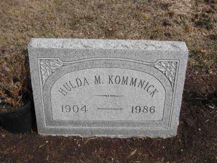 KOMMNICK, HULDA M. - Union County, Ohio   HULDA M. KOMMNICK - Ohio Gravestone Photos